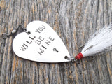 Will You Be Mine Unique Marriage Proposal Idea Fishing Lure Men Wedding Proposal Idea Fiance Asking Someone To Marry You Guys