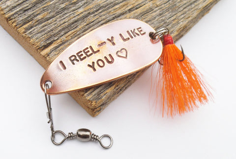 I Reel-y Like You - Personalized Spoon Lure for Boyfriend or Girlfriend