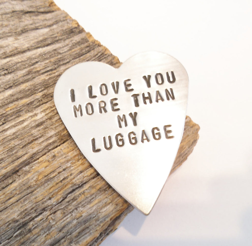 Metal Wallet Insert Men I Love you More Than My Luggage I Love you More Than Coffee I Love you More Than Bacon Custom Card Insert Husband