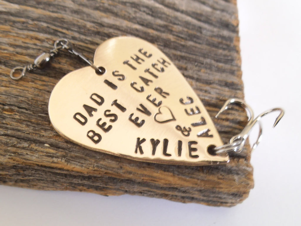Fathers Day Gift for Dad Personalized Fishing Lure 1st Fathers Day