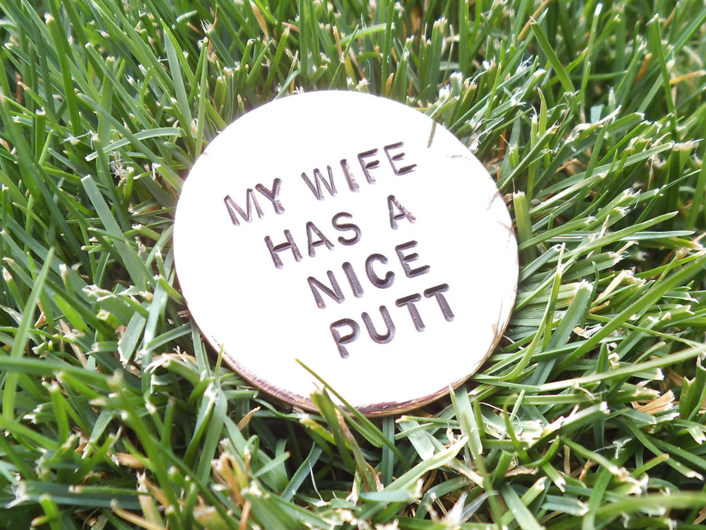 Gift for Wife Personalized Golf Ball Marker Funny Gift for Women Gag Gift for Men Custom Ball Mark Golfer Best Friend Gift Woman Mothers Day