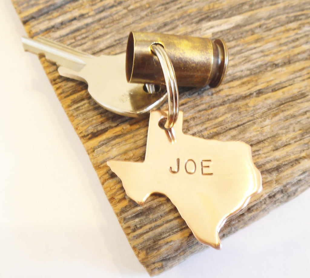 Texas State Gift For Dad Father's Day for Hunting Husband Gun Bullet Key Chain Hunting Key Ring Personalized Wedding Gift Hunter Mens Gift