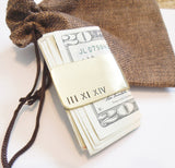 Personalized Money Clip Roman Numeral Jewelry Men Money Clip Anniversary Gift Husband Custom Money Holder Credit Card Holder for Boyfriend