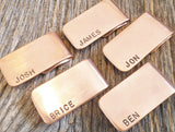 5 Men's Money Clips for Groomsmans Gift Idea Set of Five Moneyclips for Men Personalized Wedding Gift Usher Brother of the Bride Groom's Dad