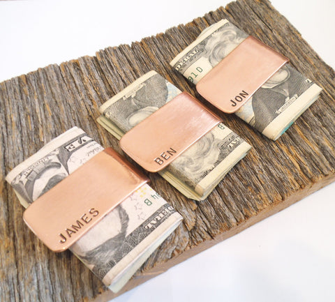 3 Custom Money Clips for Wedding Favors for Men Gift Idea Set of Three Moneyclips for Best Friends Personalized Bachelor Party Gift Best Man