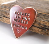 Always in My Heart Memory Jewelry Memorial Keepsake Remembrance Gift Loss of Child Hand Stamped Wallet Insert Parents Infant Loss Gift Idea