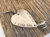 Mother Son Gift Ideas Mom to Child Graduation Gift for Boy Personalized Gift Son Birthday I Love You Fishing Lure with Custom Date Mens Gift