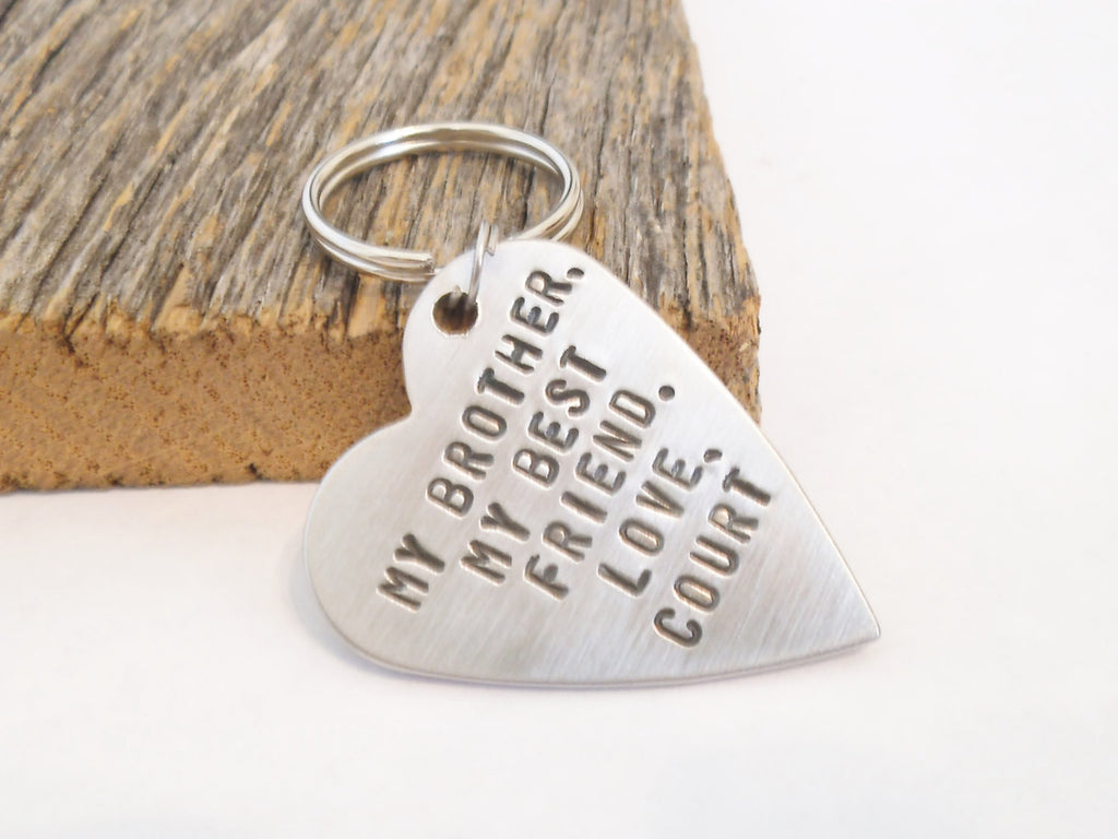 Brother Of The Bride Gift For Big Birthday Best Friend Keychain Sister Gifts