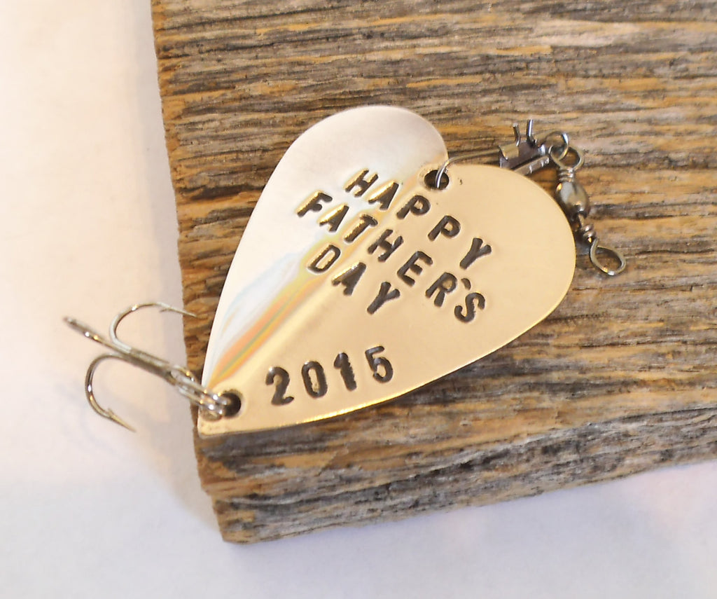 Personalized Fathers Day Gift for Husband Fishing Lure for First Father's Day