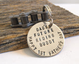Dad's Future Riding Buddy - Personalized Motocross Keychain