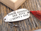 Father's Day Gift for Dad First Father's Day Fishing Lure for Husband Fathers Day Gift from Kids Gift from Son Father's Day from Daughter