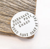 Graduation Gift Golf Ball Marker Personalized Boy Graduate Gift for Nephew from Aunt Class of 2015 Good Luck Wallet Insert Son Golf Gift Him