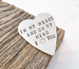 In My Heart and On My Mind Pocket Charm for Loss of a Loved One Loss of Mother Gifts for Infant Loss Memorial Jewelry Statement Jewelry Her
