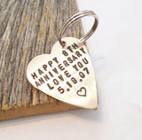 Anniversary Gift for Wife Anniversary Gift for Women Keychain for Her 8 Year Anniversary Gift for Girlfriend Eighth Anniversary Bronze Heart