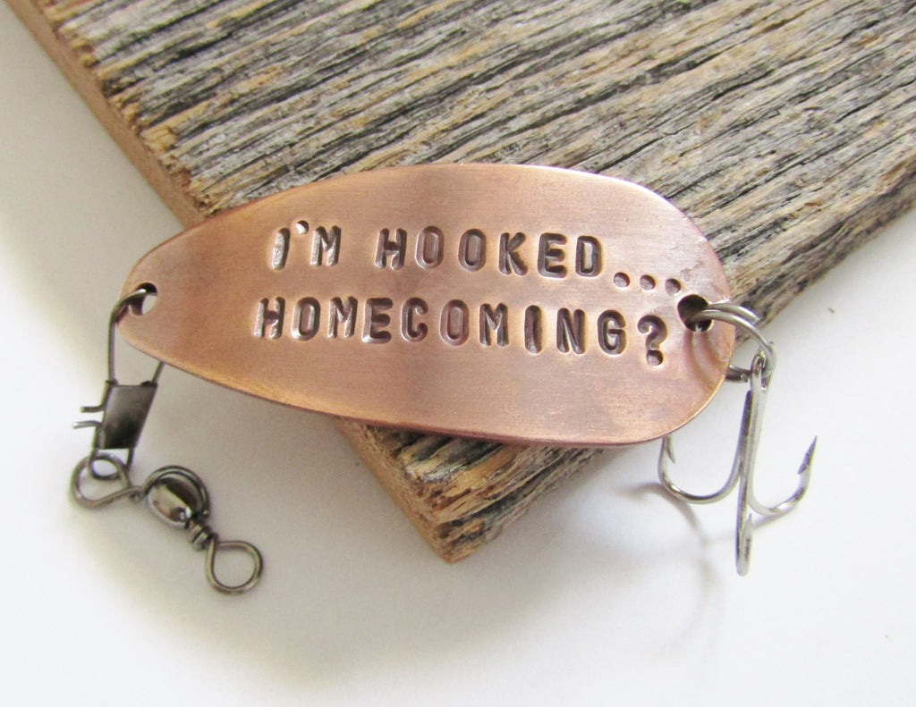 Homecoming Lure Custom Homecoming Dance Invitation to High School Dance Unique Promposal Idea for Him How to Ask Her to Prom Date 2015 Hook