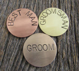 Golf Ball Marker Husband Personalized Ball Marker Dad Custom Ball Mark Usher Metal Gift Groom's Gift Christmas Wedding Groomsman's Gift Set