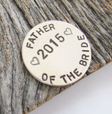 Father of the Bride Gift Golf Ball Marker Father of the Groom Golf Gift Wedding Gift for Dad from Daughter Personalized Golf Favors for Men