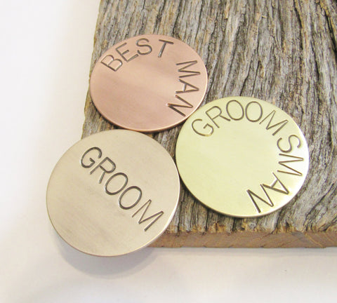 Copper Ball Marker Groom Gift for Best Man Personalized Golf Gift for Groomsman Gift Idea Bride to Dad Wedding Gift Bachelor Party Favor Men
