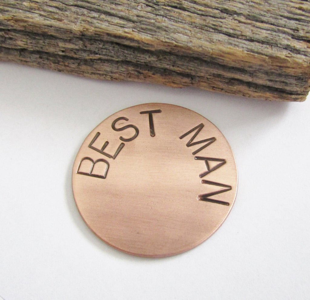 Best Man Golf Ball Marker for Bestman Gift Ideas for Guys Copper Ball Marker Custom Ball Markers with Name Good Luck Pocket Tokens for Man