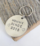New Mom Jewelry for Mother Keychain Mommy Keyring Personalized Women's Keychain New Mommy Gift for Daughter In Law Present Mom Birthday Gift