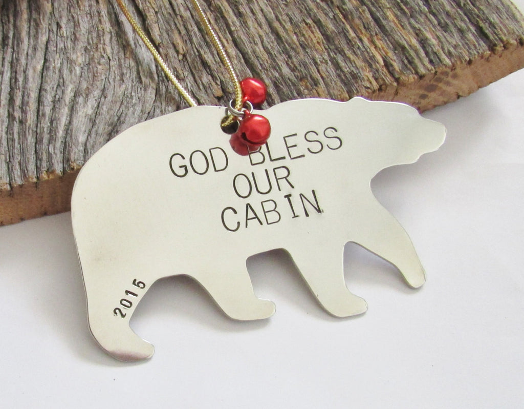 God Bless Our Cabin - Personalized Housewarming Ornament for New ...