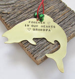 Memorial Ornament Grandpa Fishing Grandfather Remembrance Ornament In Loving Memory Gift Loss of Mother Child Father Forever in Our Heart