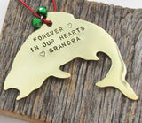 Fishing Ornament Fish Ornament Fisherman Ornament Unique Fishing Decor for Home In Memory of Grandfather Ornament for Grandpa Trout Ornament