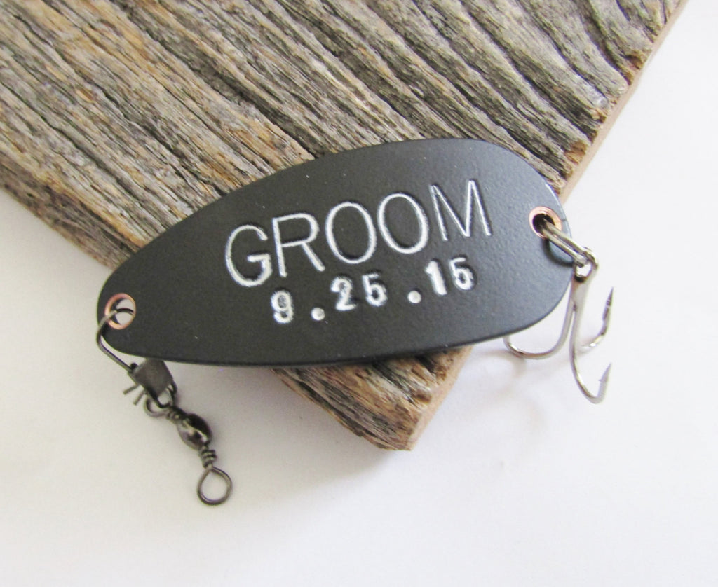 Unique Wedding Gift for Couple Son In Law Gift Idea Personalized Groom Gift Custom Bride Gift Fishing Theme Wedding Decoration One of a Kind