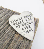 Deployment Gift You Have My Whole Heart for My Whole Life Mother of the Groom Gift Keepsake for Mother In Law Wallet Insert Groom from Bride