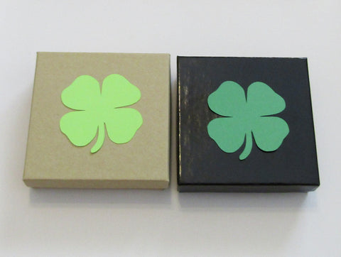 Gift Wrap Option Small Gift Box with Clover Shaped Handwritten Notecard Add On Only Personalized Card with Message of Choice St Patricks Day