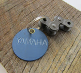 Motorcycle Keychain Boyfriend Keychain Brother Christmas Gift Teen Boy Team Yamaha Key Chain MX Gift Trail Riding Motocross Son Keyring Blue