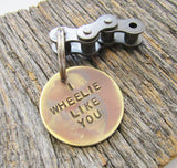 Biking Keychain for Boyfriend Bike Riding Keychain Girlfriend Christmas Gift Bicycling Keychain Teen Who Loves  Dirtbikes I Wheelie Like You
