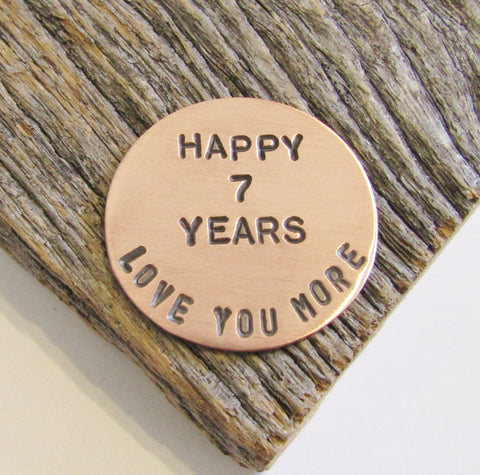 Gifts for Her 7th Anniversary Golf Ball Marker for Husband 7 Year Anniversary Gift for Golfer Wife Copper Ball Marker Simple Gifts for Men