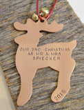 Our Second Year Gift 2nd Anniversary Engagement Ornament Our Second Christmas Mr Mrs Ornament Custom Wedding Ornament Husband Wife Ornament