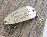 50th Birthday Gift for Brother 50th Birthday Gift for Men 1965 Birthday Big Brother 50th Party Favor Fishing Lure Personalized 50th Him 50
