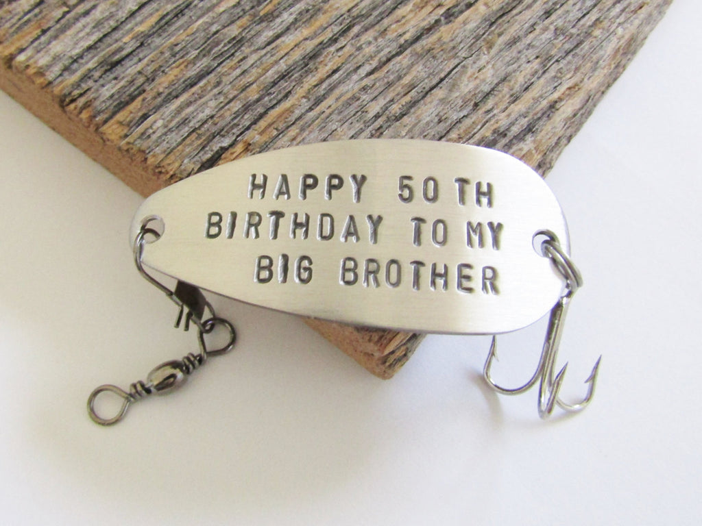 50th Birthday Gift For Brother Men 1965 Birthda C And T Custom Lures