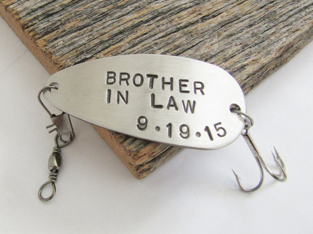 Brother In Law Gift for Brother In Law Wedding Gift for Brother of the Groom Brother of the Bride Fishing Lure Groom Gift Him Wedding Favor