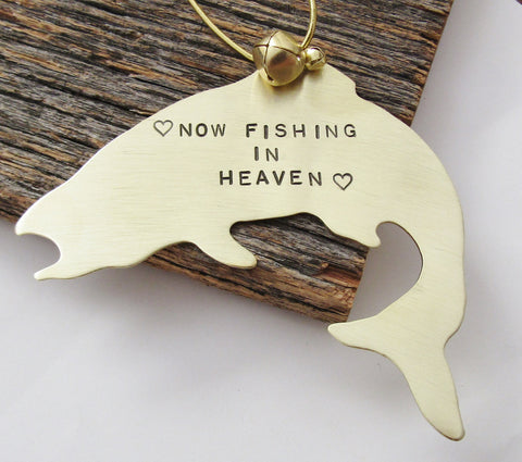 Now Fishing in Heaven - Personalized Memorial Ornament