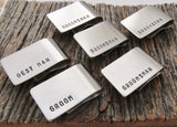 Set of 6 Groomsmens Gift Money Clip Wedding Party Gift Idea Groom The Perfect Wedding Thank You Gift Great Personalized Christmas Wedding