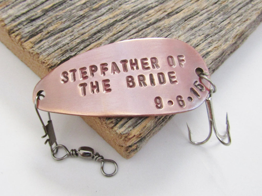 Stepfather of the Bride Gift for Step Father Stepdaughter Stepparent Gift Idea Wedding Fishing Lure Parent Gift Wedding Day Stepdad Gift