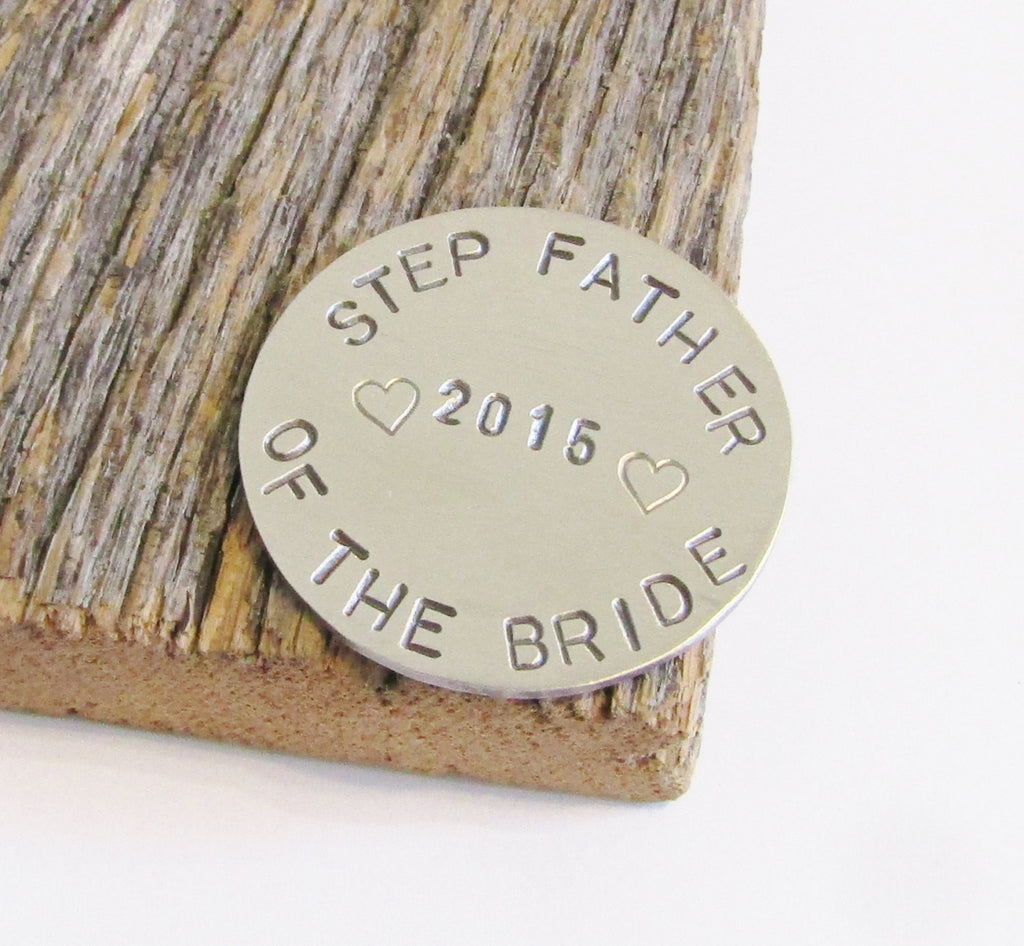 Gift for Step Father of the Bride Gift Golfing Ball Marker Stepfather of the Groom Golf Lover Gift Wedding Gift Stepdad from Daughter In Law