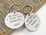 Keychain Sweet 16 Gift for Daughter 16th Birthday Gift for Son Graduation Gift for Child Christmas Gift for Kids Keychain Hand Stamped Gifts