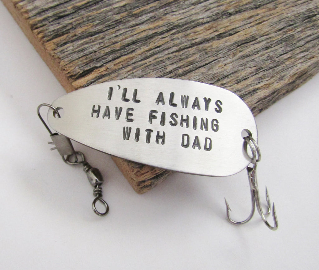Bereavement Gift for Loss of Father Daughter Gift for Christmas Stocking Stuffer Men Memorial Gift Grandfather Fishing Lure Personalized Dad