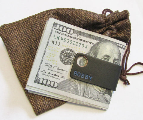 Personalized Slim Wallet Money Clip for Men