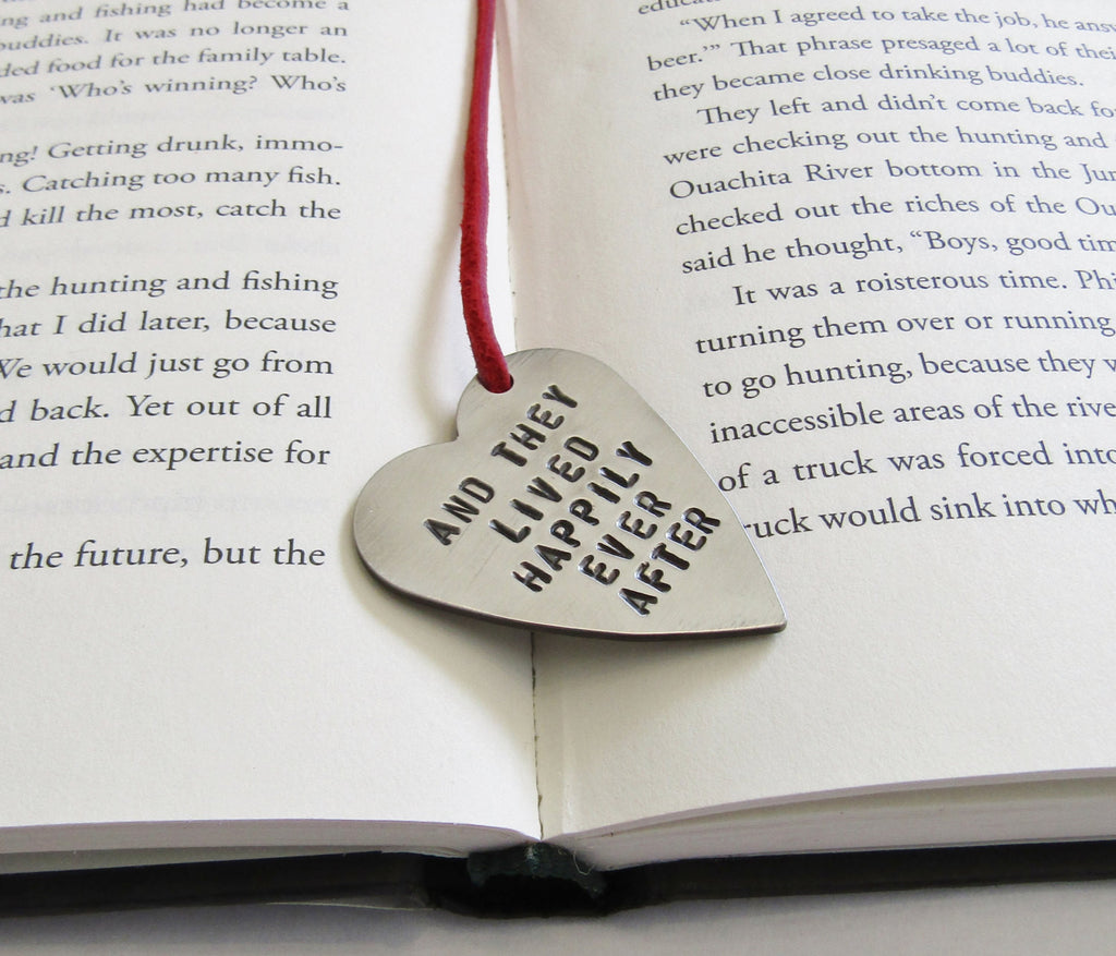 fairy tale wedding bookmark for her baby shower gift and they lived happily every after bookmark