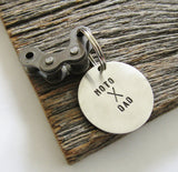 Motorcycle Keychain for Dad Moto X Dad Personalized Key Chain Christmas Gift for Dad Keyring Dirt Bike Motorcyle Rider From Daughter to Dad