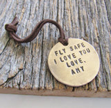 Fly Safe, I Love You - Personalized Luggage Tag for Pilots and Flight Attendants