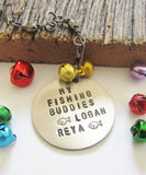 Parent Christmas Fishing Ornament Grandpa Christmas Fish Ornament Grandchildren Ornament Children's Name Ornament Personalized Ball Ornament