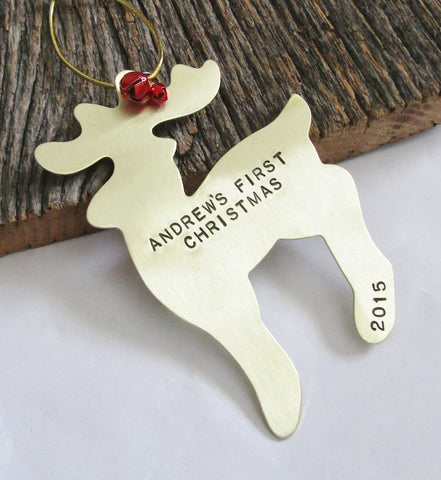 Personalized Christmas Ornament Personalized Christmas Decor Reindeer Ornament Deer Ornament Personalized Baby Gift First Christmas Girl Her