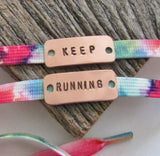 Personalized Shoe Tag Marathon Jewelry Half Marathon Shoe Clip Inspirational Shoe Lace Tag Motivational Quote Metal Running Shoe Tag I Run 4
